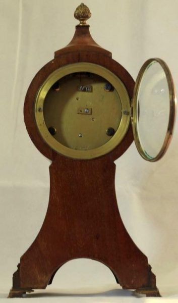 ANTIQUE-ENGLISH-8-DAY-BALLOON-HEAD-MAHOGANY-MANTLE-CLOCK-283308627745-3