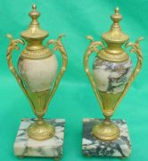 ANTIQUE-FRENCH-MARBLE-ROCOCO-PORTICO-GARNITURE-URN-CLOCK-SET-93328-283637579315-10