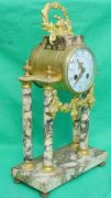 ANTIQUE-FRENCH-MARBLE-ROCOCO-PORTICO-GARNITURE-URN-CLOCK-SET-93328-283637579315-3