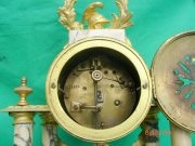 ANTIQUE-FRENCH-MARBLE-ROCOCO-PORTICO-GARNITURE-URN-CLOCK-SET-93328-283637579315-8