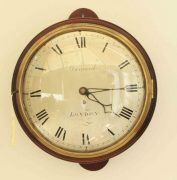 EARLY-ENGLISH-12-INCH-8-DAY-FUSEE-DIAL-CLOCK-SIGNED-BARNARD-LONDON-283468346875-3