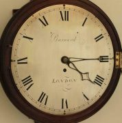 EARLY-ENGLISH-12-INCH-8-DAY-FUSEE-DIAL-CLOCK-SIGNED-BARNARD-LONDON-283468346875-5
