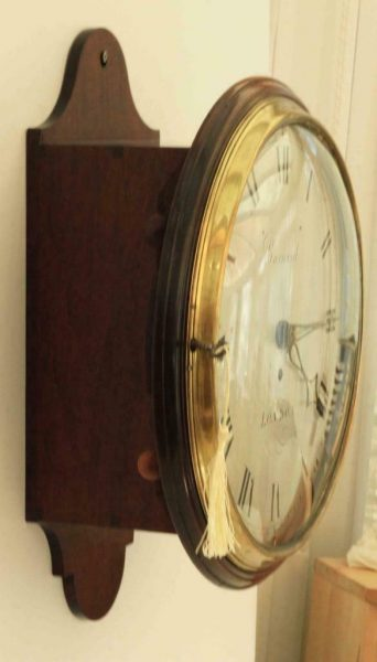 EARLY-ENGLISH-12-INCH-8-DAY-FUSEE-DIAL-CLOCK-SIGNED-BARNARD-LONDON-283468346875-6