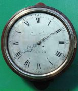 EARLY-ENGLISH-GEORGIAN-8-DAY-VERGE-FUSEE-12-DIAL-CLOCK-SAMUEL-MORTLOCK-CLAPHAM-283413149255