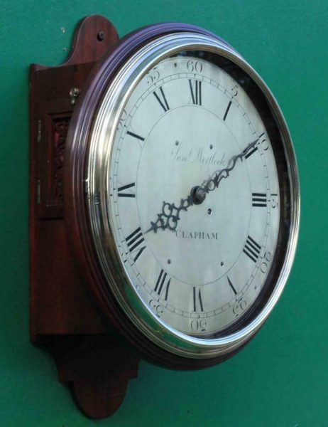 EARLY-ENGLISH-GEORGIAN-8-DAY-VERGE-FUSEE-12-DIAL-CLOCK-SAMUEL-MORTLOCK-CLAPHAM-283413149255-5