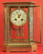 RARE-JAPY-FRERES-8-GLASS-CLOISONNE-ANTIQUE-FRENCH-CRYSTAL-REGULATOR-MANTLE-CLOCK-283350191305-5