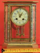 RARE-JAPY-FRERES-8-GLASS-CLOISONNE-ANTIQUE-FRENCH-CRYSTAL-REGULATOR-MANTLE-CLOCK-283350191305-7