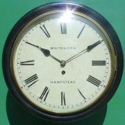 WHITEHORN-HAMPSTEAD-ANTIQUE-8-DAY-EBONISED-12-FUSEE-DIAL-CLOCK-283600414785