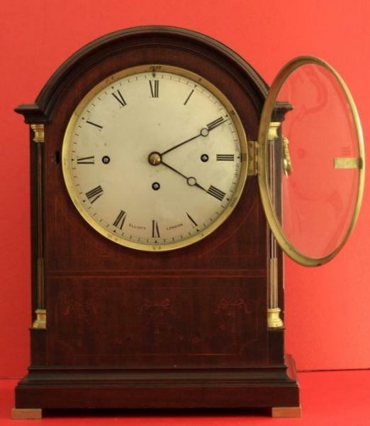 ELLIOTT-LONDON-TRIPLE-FUSEE-8-DAY-WESTMINSTER-CHIMES-MAHOGANY-BRACKET-CLOCK-283324784436-3