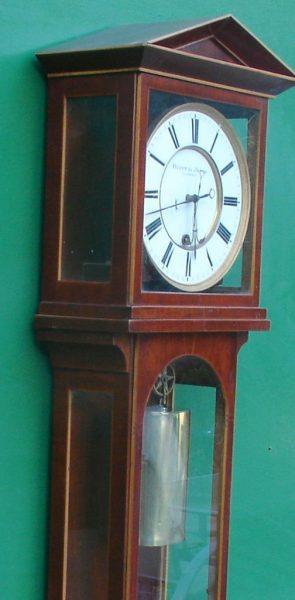 HUSSNIK-JANOS-MONTH-GOING-LATERNDLUHR-VIENNA-REGULATOR-WALL-CLOCK-1830c-282987658676-3