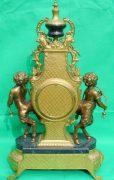 IMPERIAL-ITALIAN-CANDELABARAS-GARNITURE-BRONZE-CHERUB-8-DAY-ORMOLU-LYRE-CLOCK-283752984226-10