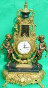 IMPERIAL-ITALIAN-CANDELABARAS-GARNITURE-BRONZE-CHERUB-8-DAY-ORMOLU-LYRE-CLOCK-283752984226-2