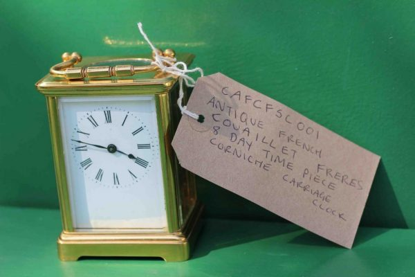 ANTIQUE-FRENCH-COUAILLET-FRERES-8-DAY-TIME-PIECE-CORNICHE-CARRIAGE-CLOCK-283181258167-10