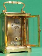 ANTIQUE-FRENCH-COUAILLET-FRERES-8-DAY-TIME-PIECE-CORNICHE-CARRIAGE-CLOCK-283181258167-7