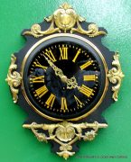 JAPY-FRERES-8-DAY-ANTIQUE-FRENCH-EBONISED-ORMOLU-CARTEL-CLOCK-282669095927