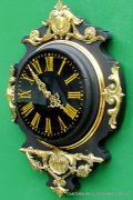 JAPY-FRERES-8-DAY-ANTIQUE-FRENCH-EBONISED-ORMOLU-CARTEL-CLOCK-282669095927-3