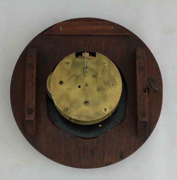 RARE-MINIATURE-ANTIQUE-ENGLISH-MAHOGANY-8-DAY-7-FUSEE-DIAL-CLOCK-WEBB-SANDGATE-283409829557-8