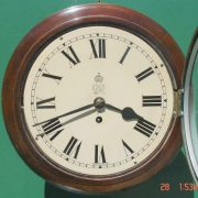 WWII-GEORGE-VI-GPO-8-DAY-ENGLISH-MAHOGANY-FUSEE-DIAL-CLOCK-283569702217-2