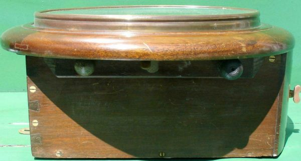 WWII-GEORGE-VI-GPO-8-DAY-ENGLISH-MAHOGANY-FUSEE-DIAL-CLOCK-283569702217-5