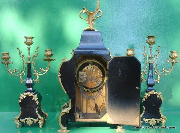 ANTIQUE-JAPY-FRERES-8-DAY-ORMOLU-ROCOCO-BOULLE-TYPE-CANDELLABRAS-CLOCK-SET-1880c-282542779948-10