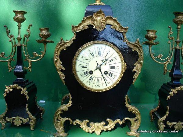 ANTIQUE-JAPY-FRERES-8-DAY-ORMOLU-ROCOCO-BOULLE-TYPE-CANDELLABRAS-CLOCK-SET-1880c-282542779948-6