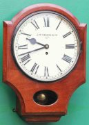 J-MCKENZIE-ANTIQUE-8-DAY-FUSEE-12-DROP-DIAL-MAHOGANY-GALLERY-CASE-WALL-CLOCK-283468465378-2