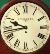 J-MCKENZIE-ANTIQUE-8-DAY-FUSEE-12-DROP-DIAL-MAHOGANY-GALLERY-CASE-WALL-CLOCK-283468465378-6