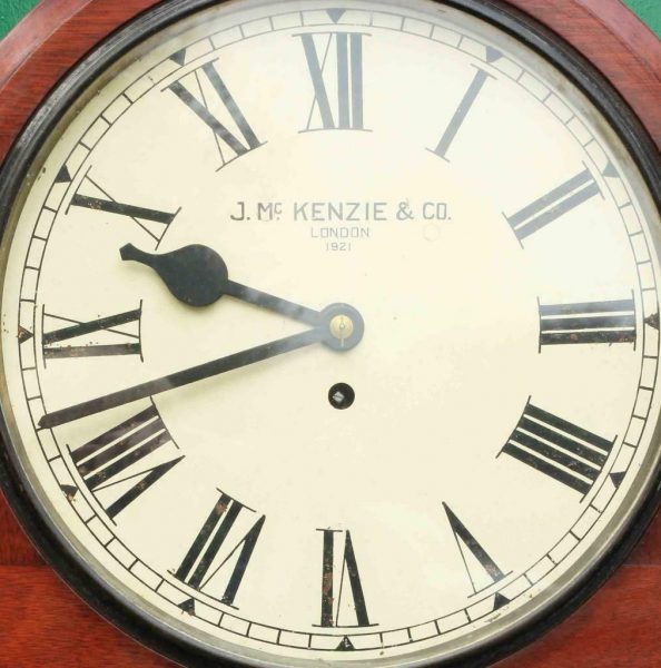 J-MCKENZIE-ANTIQUE-8-DAY-FUSEE-12-DROP-DIAL-MAHOGANY-GALLERY-CASE-WALL-CLOCK-283468465378-7