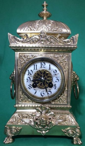 SMARTI-ANTIQUE-FRENCH-8-DAY-2-TRAIN-ROCOCO-MANTLE-CLOCK-SET-WITH-CANDLEABRAS-283578294148-6