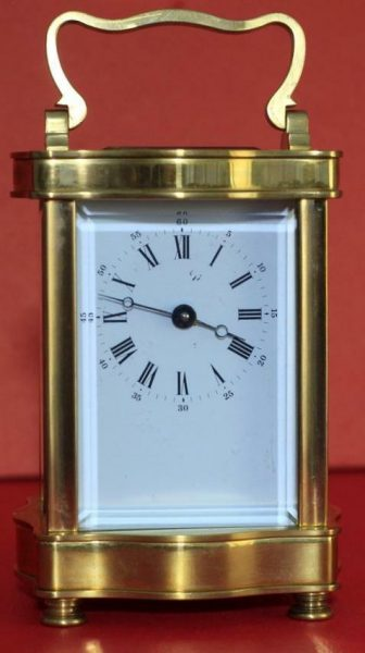 VINTAGE-FRENCH-LEPEE-8-DAY-DOUCINE-SERPENTINE-TIMEPIECE-CARRIAGE-CLOCK-283324895138