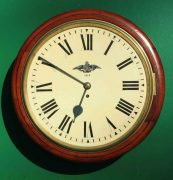 WWI-1915-ROYAL-FLYING-CORPS-8-DAY-FUSEE-DIAL-CLOCK-PER-ARDUA-AD-ASTRA-283366702408