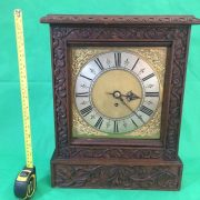 ANTIQUE-8-DAY-FUSEE-BRACKET-CLOCK-WITH-TUDOR-STYLE-CASE-AND-ROCOCO-SPANDRELS-283578595769-8