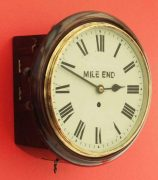 ANTIQUE-ENGLISH-MAHOGANY-8-DAY-FUSEE-10-DIAL-CLOCK-SIGNED-MILE-END-283397327759-2