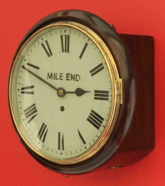 ANTIQUE-ENGLISH-MAHOGANY-8-DAY-FUSEE-10-DIAL-CLOCK-SIGNED-MILE-END-283397327759-3