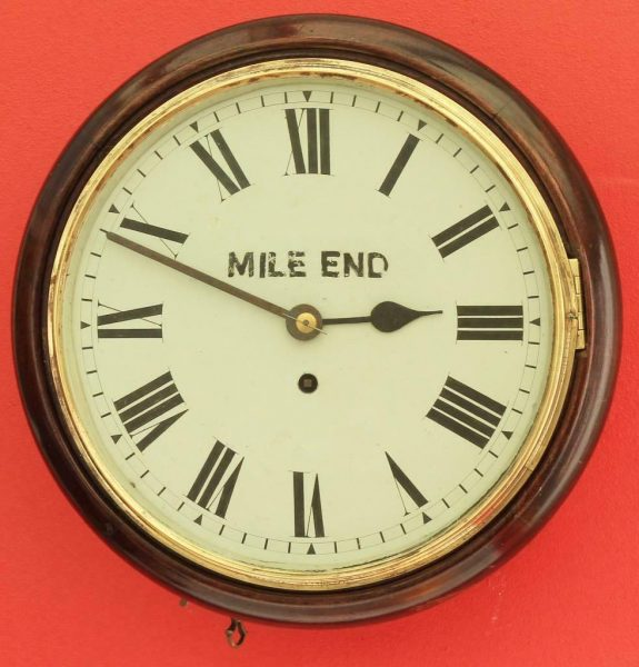 ANTIQUE-ENGLISH-MAHOGANY-8-DAY-FUSEE-10-DIAL-CLOCK-SIGNED-MILE-END-283397327759