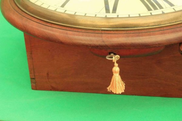 BROWN-OF-NORWICH-ANTIQUE-ENGLISH-8-DAY-FUSEE-MAHOGANY-12-DROP-DIAL-WALL-CLOCK-283638186649-11