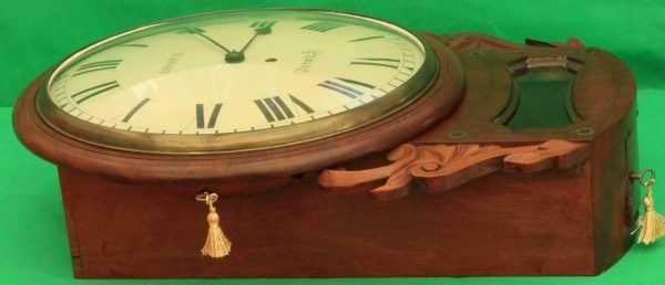 BROWN-OF-NORWICH-ANTIQUE-ENGLISH-8-DAY-FUSEE-MAHOGANY-12-DROP-DIAL-WALL-CLOCK-283638186649-12