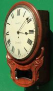 BROWN-OF-NORWICH-ANTIQUE-ENGLISH-8-DAY-FUSEE-MAHOGANY-12-DROP-DIAL-WALL-CLOCK-283638186649-2