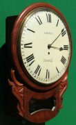 BROWN-OF-NORWICH-ANTIQUE-ENGLISH-8-DAY-FUSEE-MAHOGANY-12-DROP-DIAL-WALL-CLOCK-283638186649-5