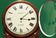 BROWN-OF-NORWICH-ANTIQUE-ENGLISH-8-DAY-FUSEE-MAHOGANY-12-DROP-DIAL-WALL-CLOCK-283638186649-7