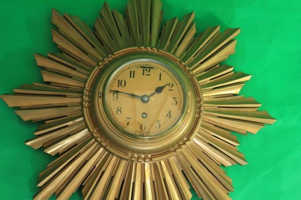 ENGLISH-ART-DECO-8-DAY-GOLD-GILT-SUNBURST-WALL-CLOCK-283298139849-6